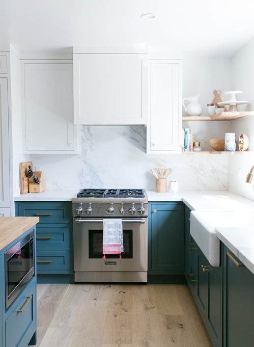 Painted Lower Cabinets