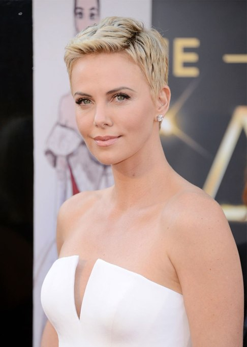 Dramatic Celebrity Hair Makeovers | After: Charlize Theron