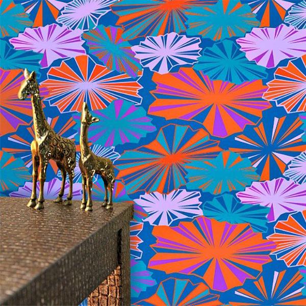 Etsy Decorating Trends: Wallpaper in Brella's Pattern   Fall Decor