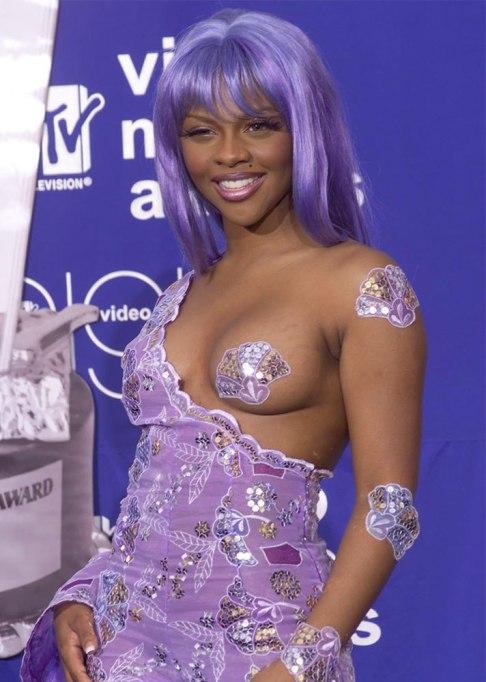 Lil' Kim Purple Wig