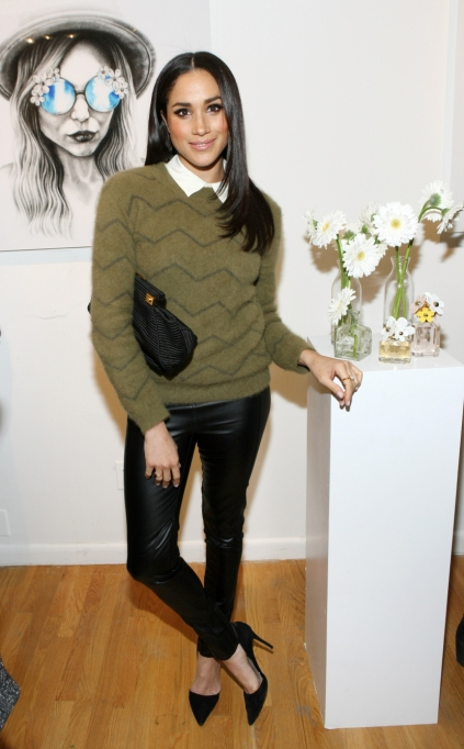 Meghan Markle's Most Fashionable Outfits | Attending the Marc Jacobs Daisy Chain Tweet Pop Up Shop Party