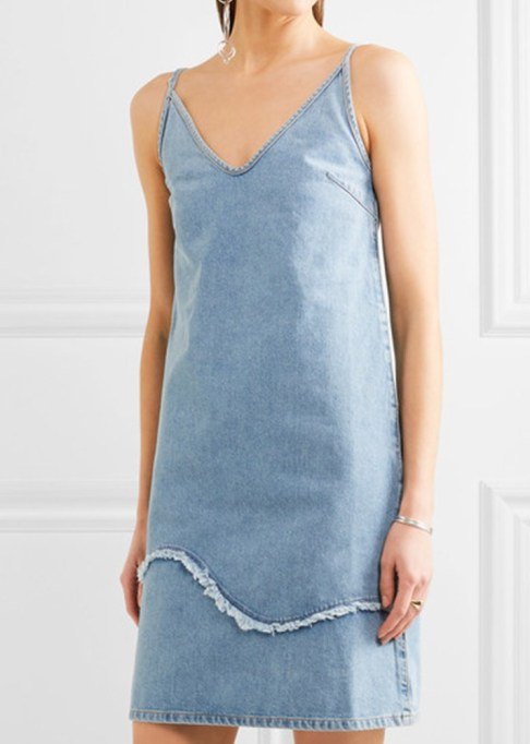 Denim Dresses Are Back: M.I.H Jeans Harley Frayed Denim Dress | Summer Fashion Trends