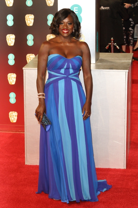 Viola Davos red carpet looks: 2017 BAFTA Awards
