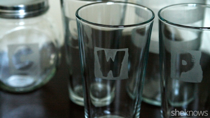 How to make DIY etched glassware