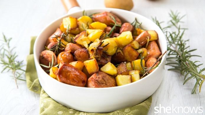 One-Pot Wonder: Potato and sausage skillet