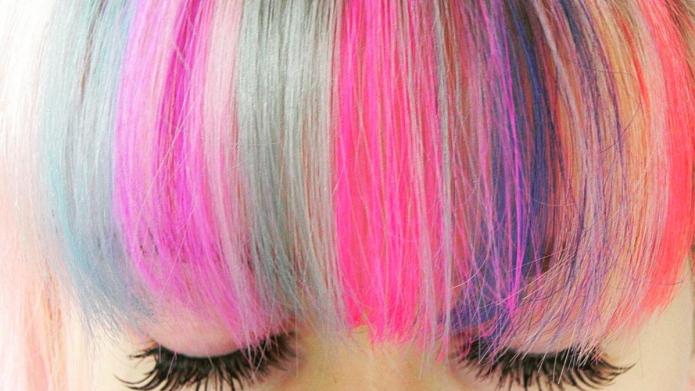 14 rainbow bang hairstyles that are