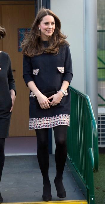 Kate Middleton tweed maternity dress