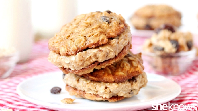 Cookie dough filling takes oatmeal cookie