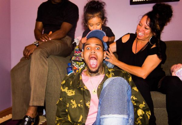 Chris Brown and his daughter Royalty