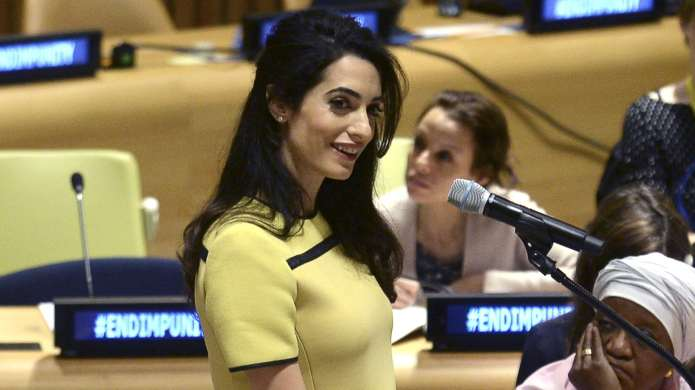 Should Amal Clooney Leave Her Baby