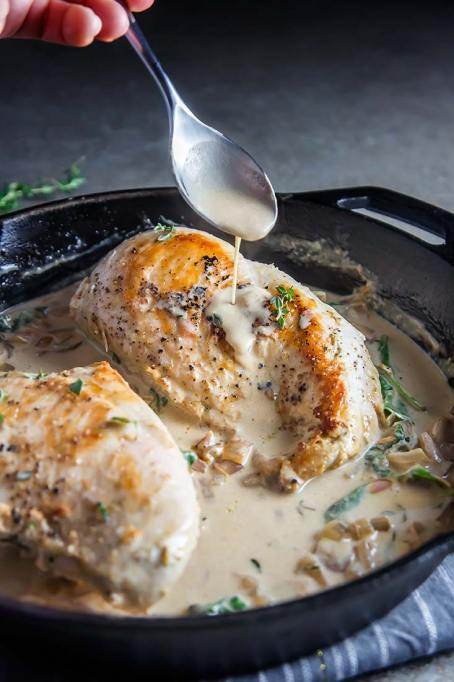 Rescue Overcooked Meat: When faced with overcooked meat, this white wine cream sauce works wonders