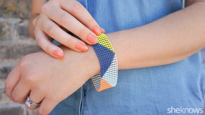 Chic DIY colorblock bracelet is so