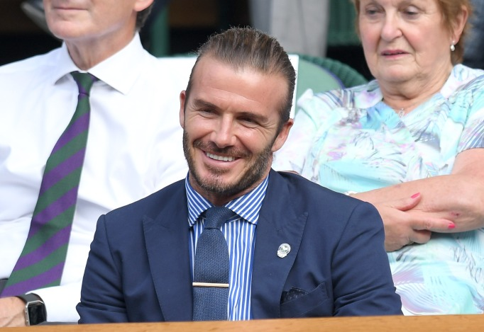 Check out these celebrities at the 2017 Wimbledon tournament: David Beckham