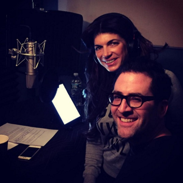 Teresa Giudice recording audio for her memoir
