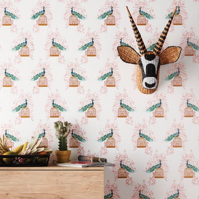 Peacock Peel & Stick Removable Wallpaper