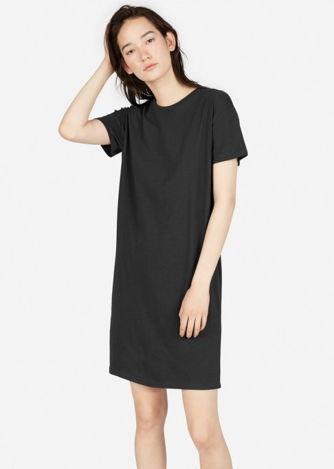 Black Summer Dresses To Live In This Season: Everlane The Cotton Box-Cut Tee Dress | Summer Style 2017