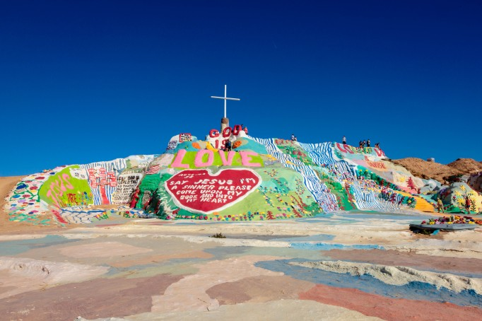 Salvation Mountain and Slab City California