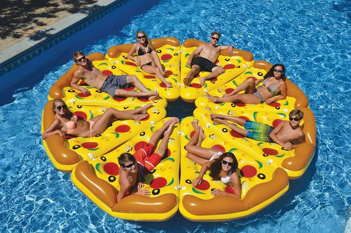 Pizza Pool Slices Float