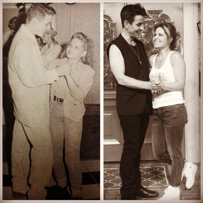 Joey McIntyre and Candace Cameron Bure