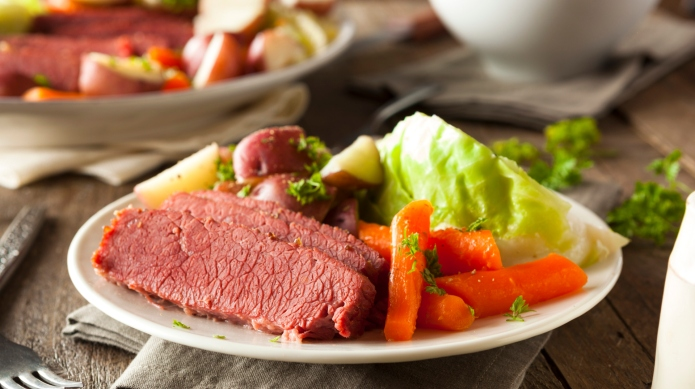 Homemade Corned Beef and Cabbage with