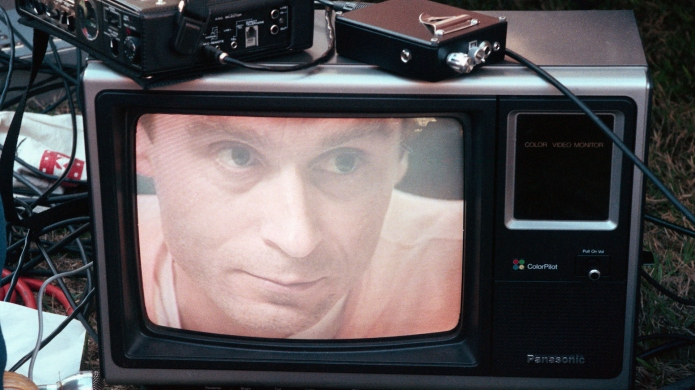 Ted Bundy's image on a television