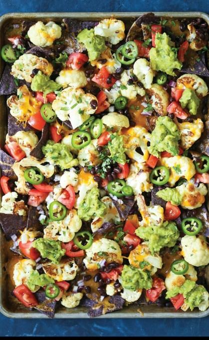 12 Healthier Alternatives To Your Favorite Winter Comfort Food: cauliflower nachos