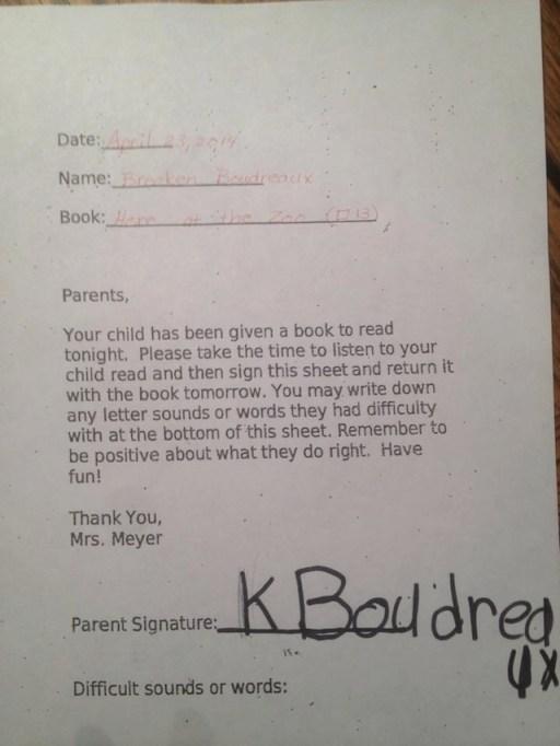 kids forging signature