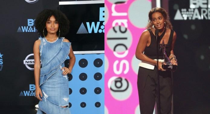 Solange Knowles & Yara Shahidi Give