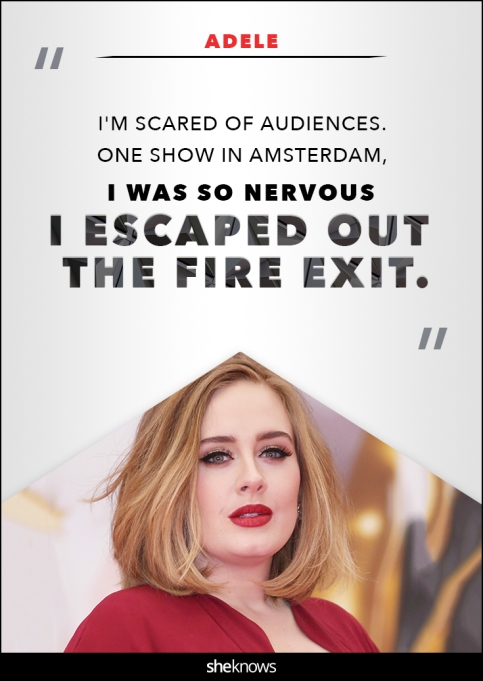 Adele anxiety quote