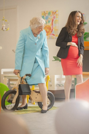 Kate Middleton & the queen prepare for royal baby… kinda