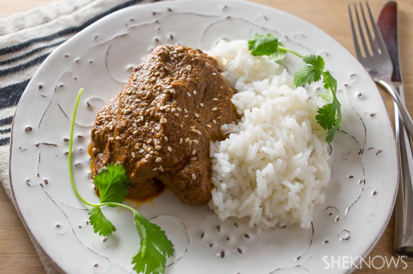 Quick chicken mole | SheKnows.com - final product