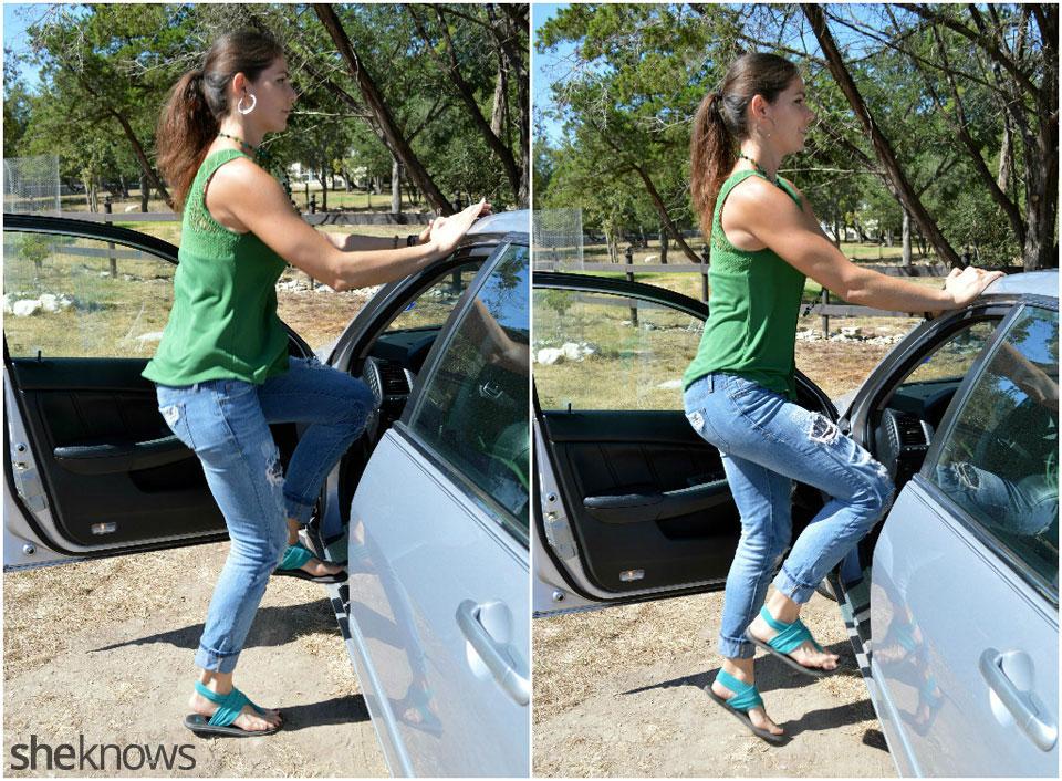 Driver's door quick feet