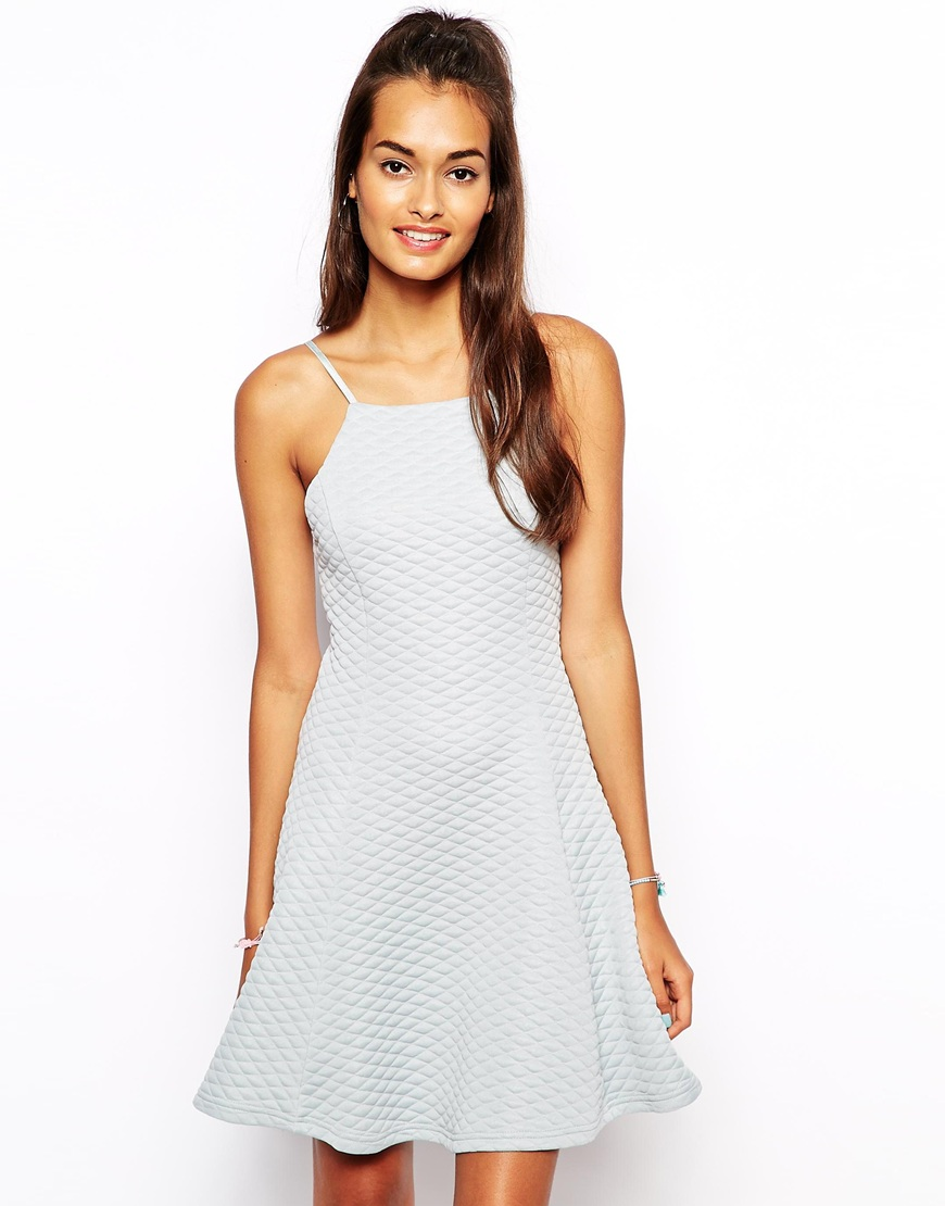The Laden Showroom X Renee London Quilted Skater Dress