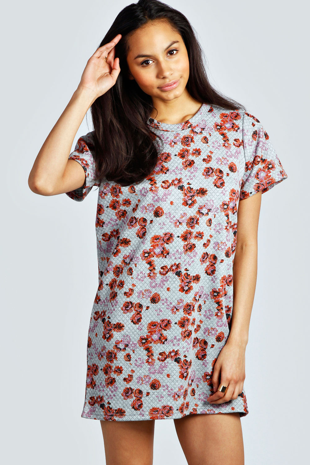 Sarah Floral Quilted Sweat Dress