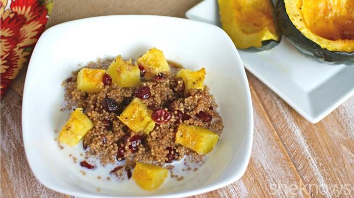 quinoa and squash breakfast bowls