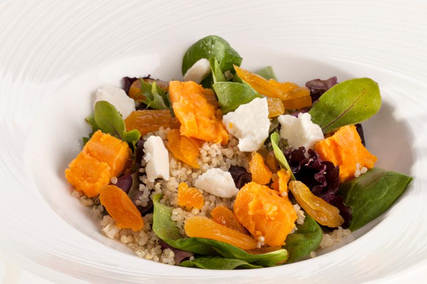 Quinoa dried fruit salad
