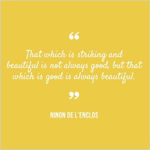 Ninon de L'Enclos quote   Sheknows.com
