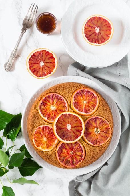 Dairy free dessert recipes: blood orange olive oil cake