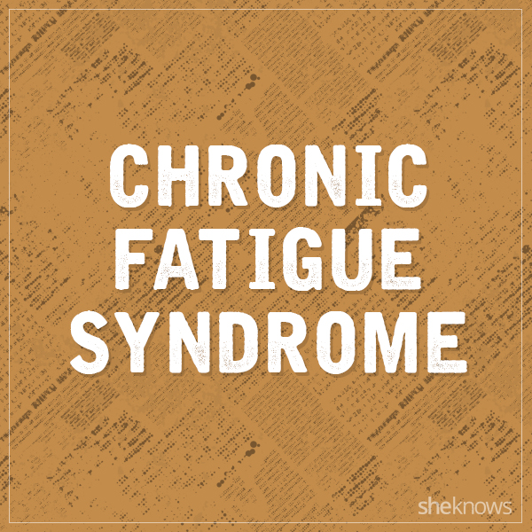 Chronic fatigue syndrome graphic