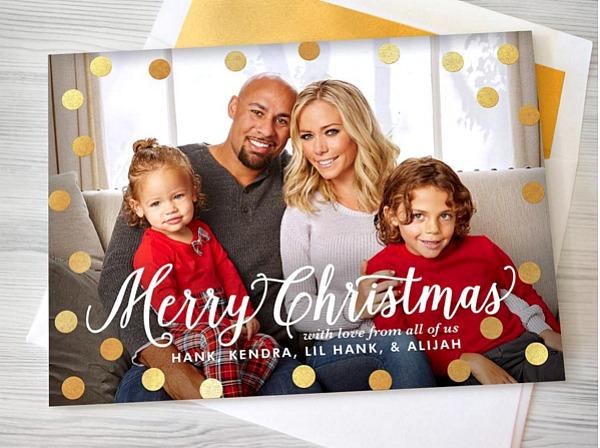 Kendra Wilkinson's 2015 Christmas card