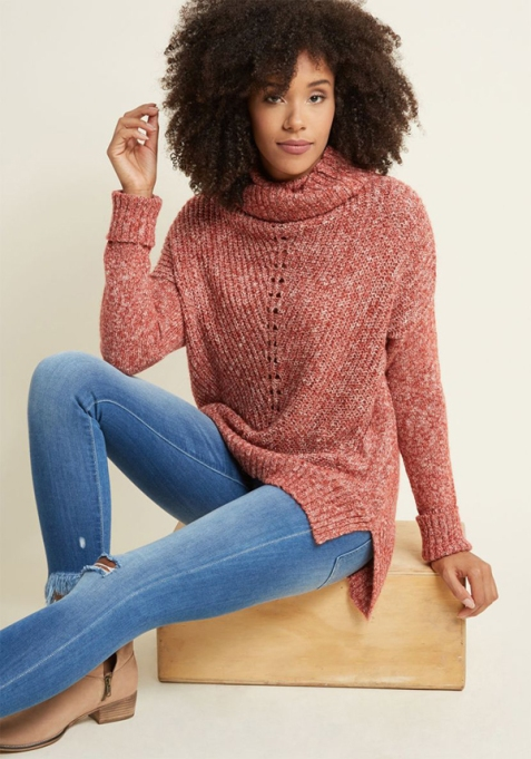 Cozy Sweaters For Under $100: Slouchy Cowl Neck Sweater | Fall Fashion 2017
