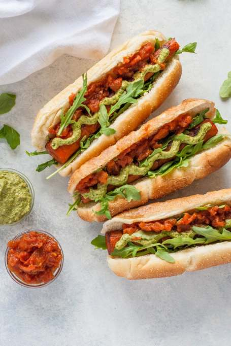 Vegetarian 4th of July: Vegan balsamic carrot dogs will please the whole family.