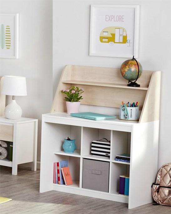 Swedish-Modern Children's Furniture | Desk With Hutch