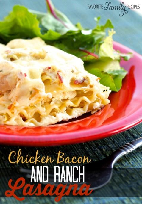 Chicken, Bacon and Ranch Lasagna