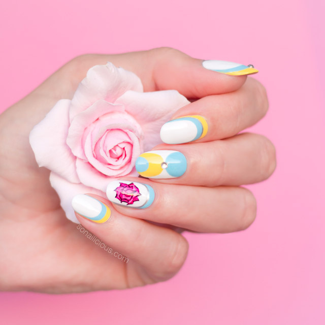 'Beauty and the Beast' nail art