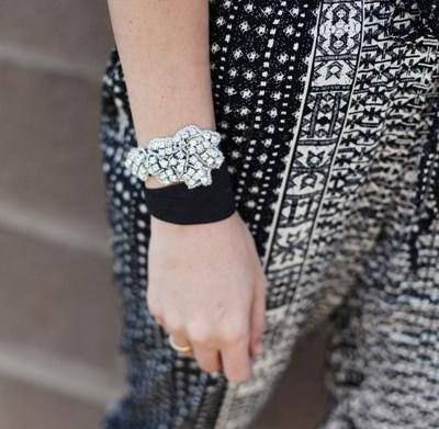 Hairstyle obsession: Embellished hair ties and