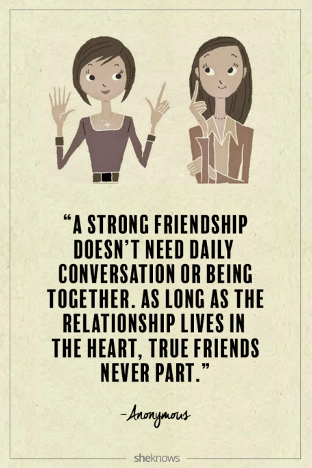 Anonymous quote about friendship
