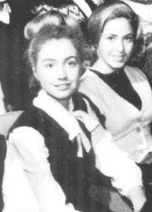 A young Hillary Clinton