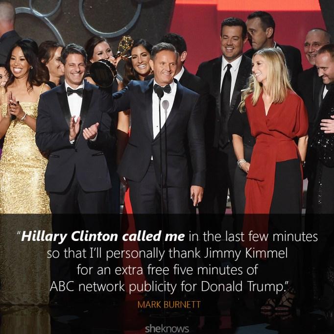 Mark Burnett Emmys speech