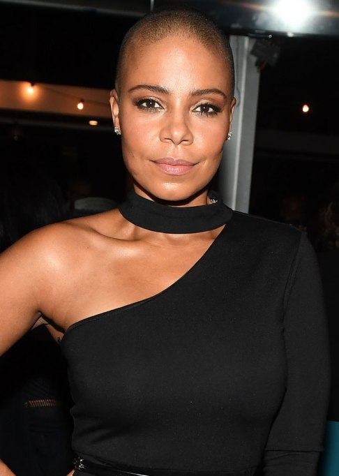 Best Celebrity Hair Transformations of 2017: Sanaa Lathan's shaved head